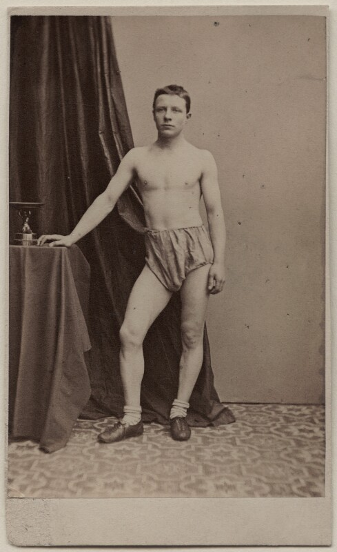 Unknown athlete, published by George Newbold, early 1860s - NPG Ax47093 - © National Portrait Gallery, London