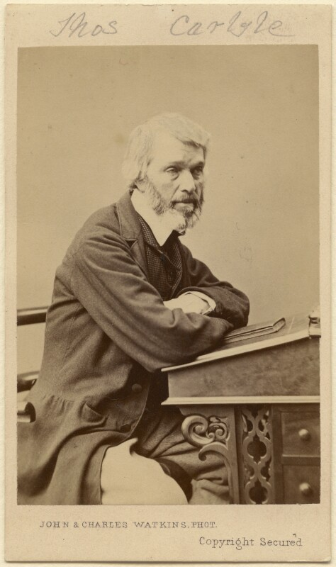 Thomas Carlyle, by John & Charles Watkins, circa 1861 - NPG Ax5086 - © National Portrait Gallery, London