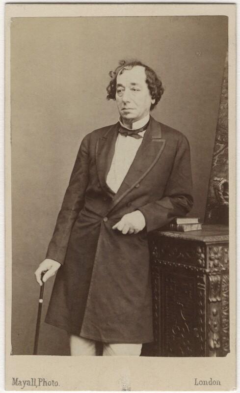 Benjamin Disraeli, Earl of Beaconsfield, by Mayall, circa 1868 - NPG Ax5061 - © National Portrait Gallery, London