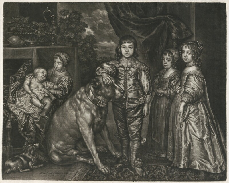 The Five Eldest Children of King Charles I, published by Alexander Browne, after  Sir Anthony van Dyck, circa 1680-84 (1637) - NPG D11400 - © National Portrait Gallery, London