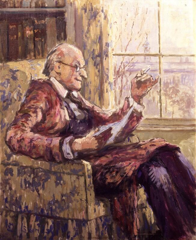 (Lloyd) Logan Pearsall Smith, by Ethel Sands, 1932 - NPG 6573 - © National Portrait Gallery, London