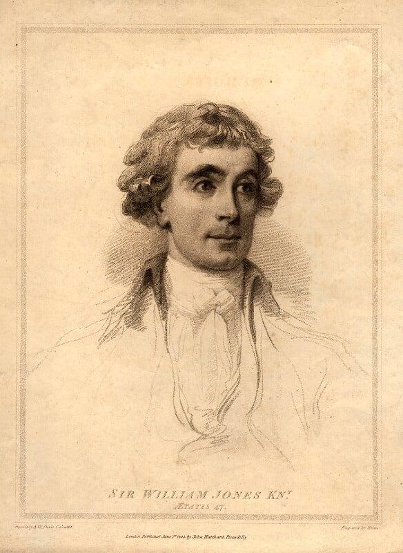 Sir William Jones, by William Evans, after  Arthur William Devis, published 1804 - NPG D11104 - © National Portrait Gallery, London