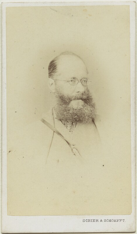 Edward Lear, by Schier & Schoefft, circa 1866-1867 - NPG x8360 - © National Portrait Gallery, London