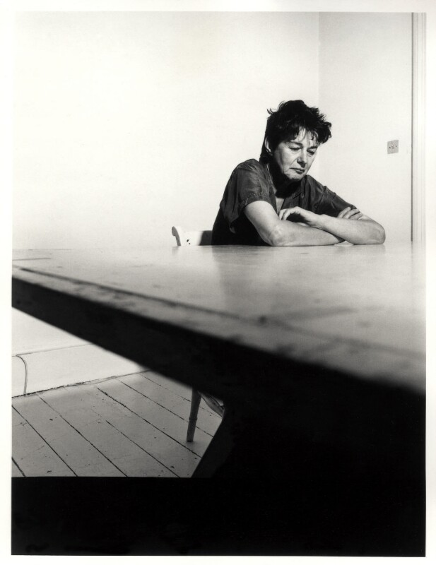 Bridget Riley, by Paul Tozer, 13 July 1992 - NPG x45760 - © Paul Tozer / National Portrait Gallery, London