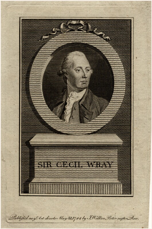 Sir Cecil Wray, Bt, after Unknown artist, published 1784 - NPG D11110 - © National Portrait Gallery, London
