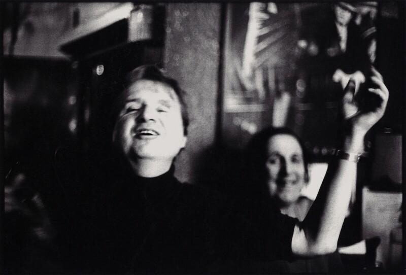 Francis Bacon; Muriel Belcher, by Peter Stark, 1975 - NPG x1533 - © Peter Stark