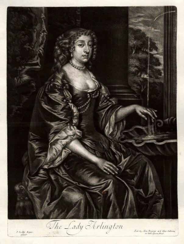 Isabella (née de Nassau), Countess of Arlington, published by Alexander Browne, after  Sir Peter Lely, circa 1684 - NPG D11423 - © National Portrait Gallery, London