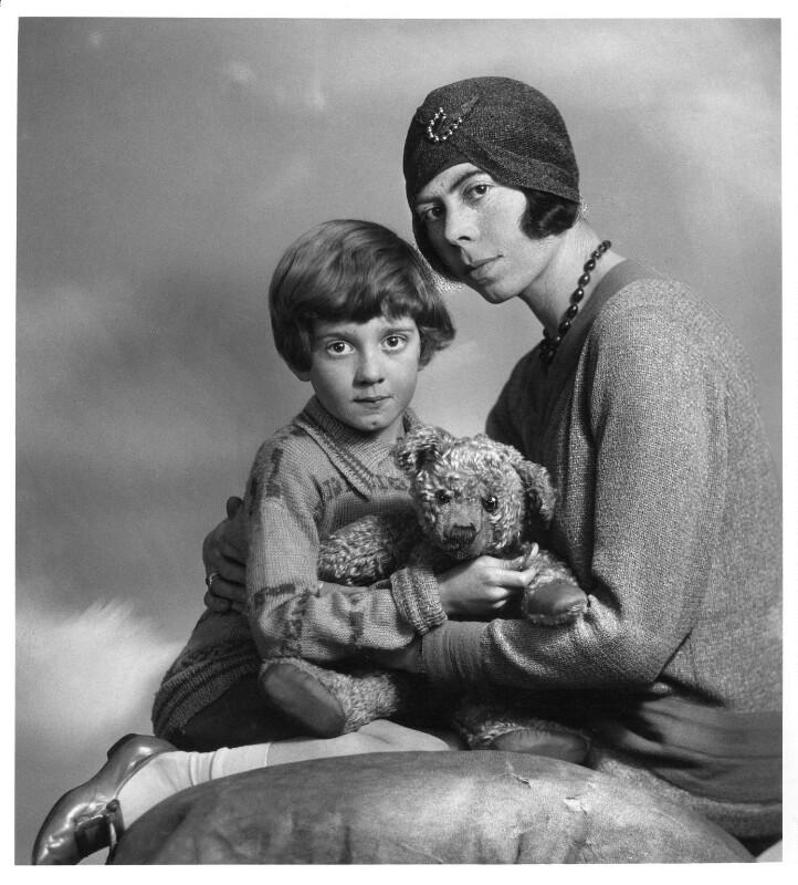 Christopher Robin Milne; Dorothy ('Daphne') Milne (née de Sélincourt), by Marcus Adams, 14 March 1928 - NPG x36158 - © estate of Marcus Adams / Camera Press