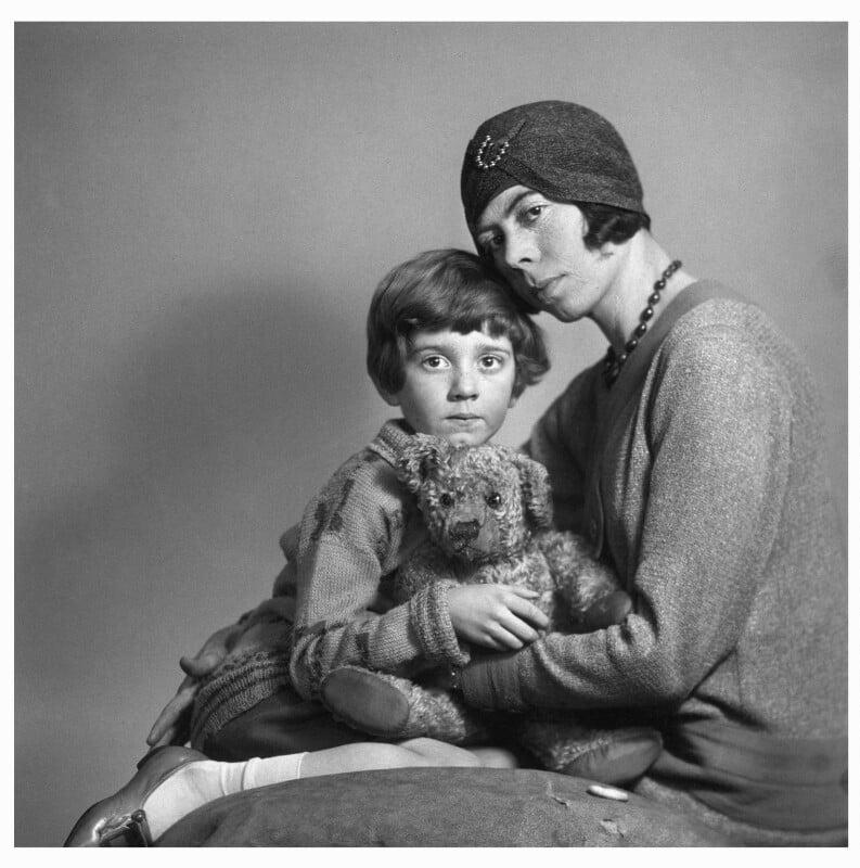 Christopher Robin Milne; Dorothy ('Daphne') Milne (née de Sélincourt), by Marcus Adams, 14 March 1928 - NPG x36156 - © estate of Marcus Adams / Camera Press