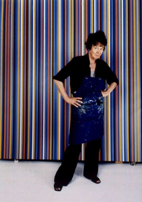 Bridget Riley, by Jillian Edelstein, 14 August 2000 - NPG x88992 - © Jillian Edelstein / Camera Press