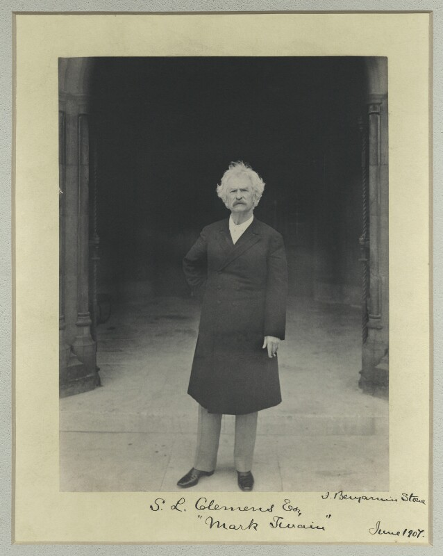 Mark Twain, by Benjamin Stone, Summer 1907 - NPG x44614 - © National Portrait Gallery, London