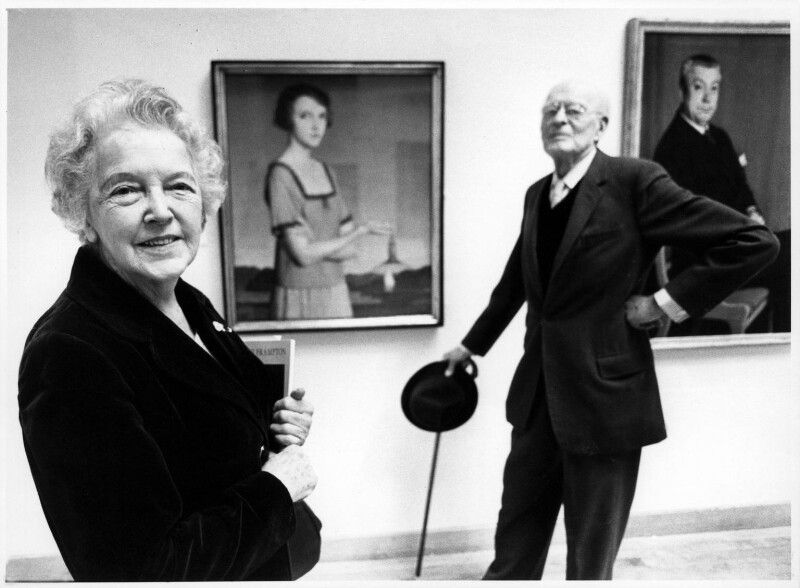 Winifred Radford; Meredith Frampton, by Brian Harris, for  The Times, 1982 - NPG x88968 - © News International Newspapers Ltd