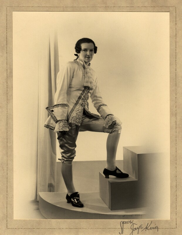Winifred Radford as Cherubino, by Spidk Jaye King, 1936 - NPG x88971 - © National Portrait Gallery, London
