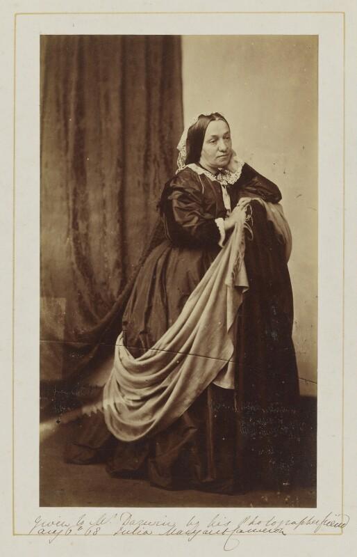 Julia Margaret Cameron, by Unknown photographer, circa 1868 - NPG P880 - © National Portrait Gallery, London