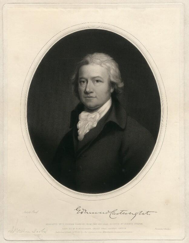 Edmund Cartwright, by Thomas Oldham Barlow, after  Robert Fulton, published 1862 - NPG D11144 - © National Portrait Gallery, London