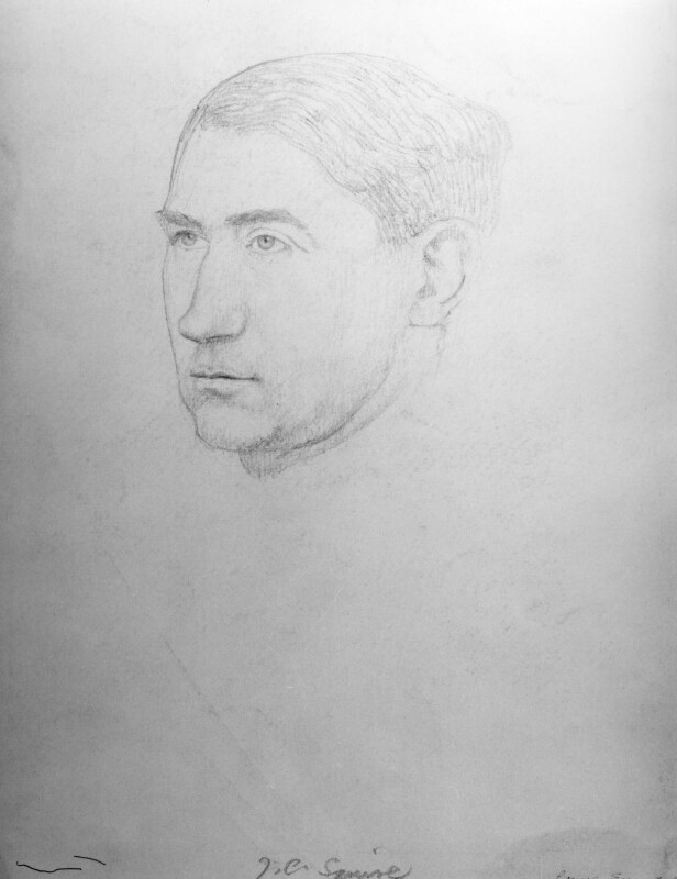 Sir John Collings Squire, by Powys Evans, 1920s-1930s - NPG D1668 - © estate of Powys Evans