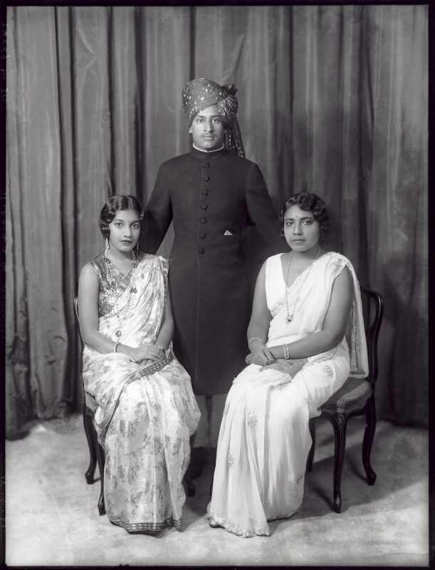 Indian Royal Family group, by Bassano Ltd, 15 June 1933 - NPG x96779 - © National Portrait Gallery, London