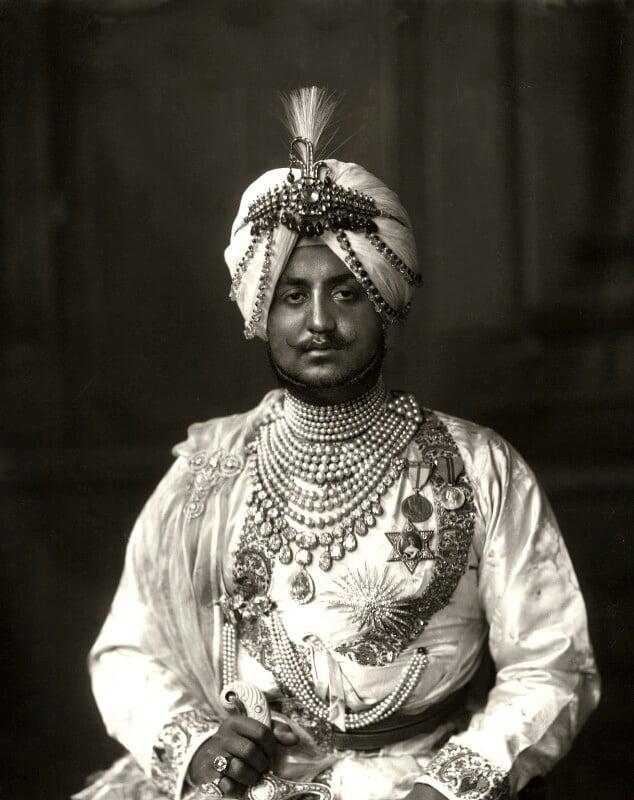Sir Bhupindra Singh, Maharaja of Patiala, by Vandyk, 5 July 1911 - NPG x98678 - © National Portrait Gallery, London