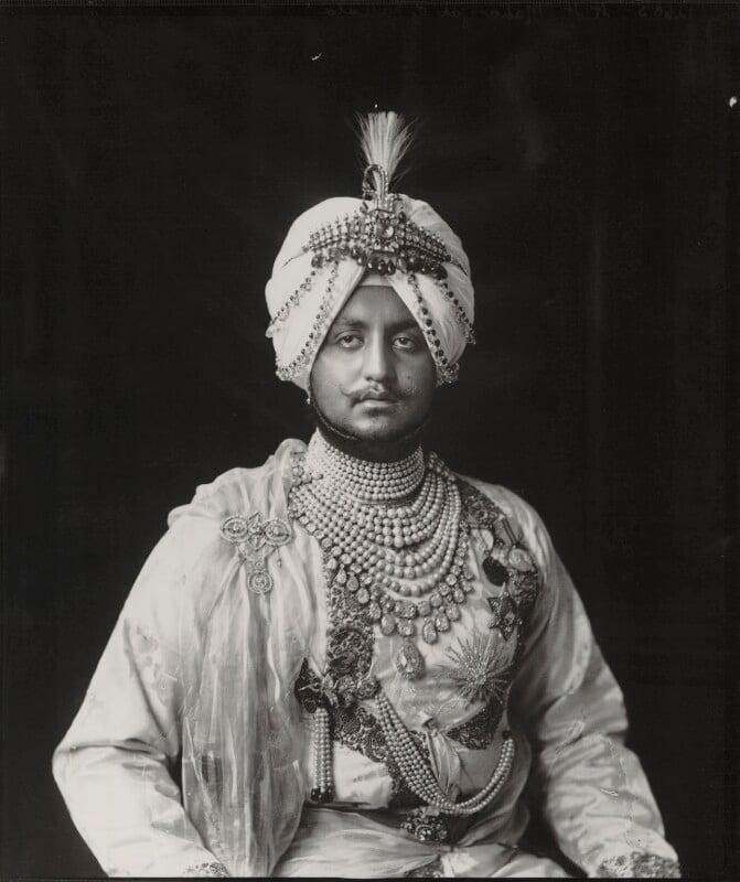 Sir Bhupinder Singh, Maharaja of Patiala, by Vandyk, 5 July 1911 - NPG x98674 - © National Portrait Gallery, London