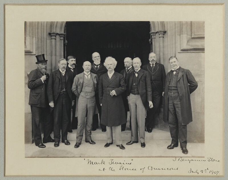 Mark Twain at the House of Commons, by Benjamin Stone, 2 July 1907 - NPG x89003 - © National Portrait Gallery, London
