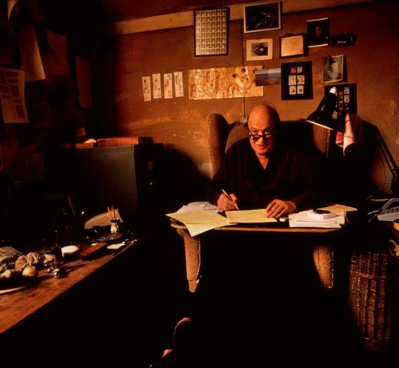 Roald Dahl, by Jan Baldwin, 1989 - NPG x125022 - © Jan Baldwin