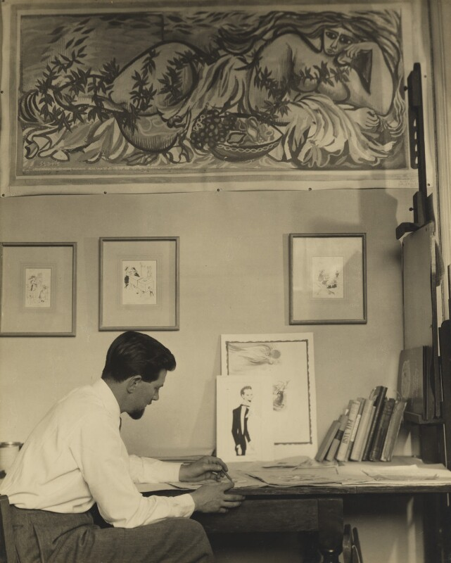 Ronald Searle, by Madame Yevonde, 14 July 1950 - NPG x26393 - © Yevonde Portrait Archive / Mary Evans Picture Library