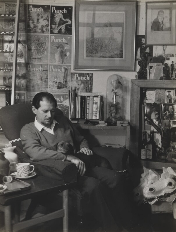 Ronald Searle, by Madame Yevonde, February 1959 - NPG x26394 - © Yevonde Portrait Archive / Mary Evans Picture Library