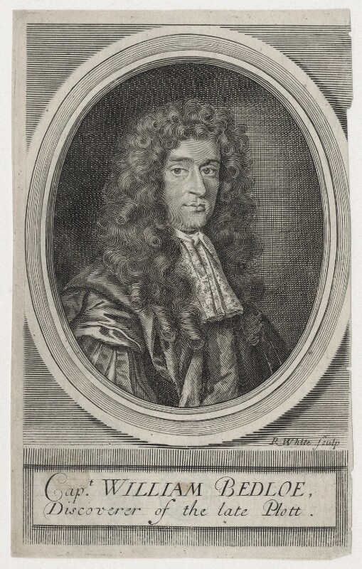William Bedloe, by Robert White, after  Unknown artist, published 1681 - NPG D11168 - © National Portrait Gallery, London