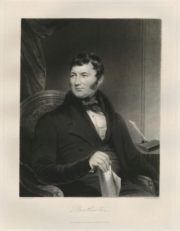 Joseph Brotherton, by Samuel William Reynolds Jr, published 1836 - NPG D11172 - © National Portrait Gallery, London