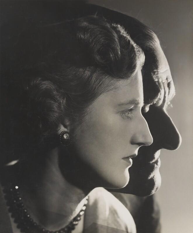 T.S. Eliot; (Esme) Valerie Eliot (née Fletcher), by Angus McBean, 1957 - NPG P891 - Angus McBean Photograph. © Harvard Theatre Collection, Harvard University.