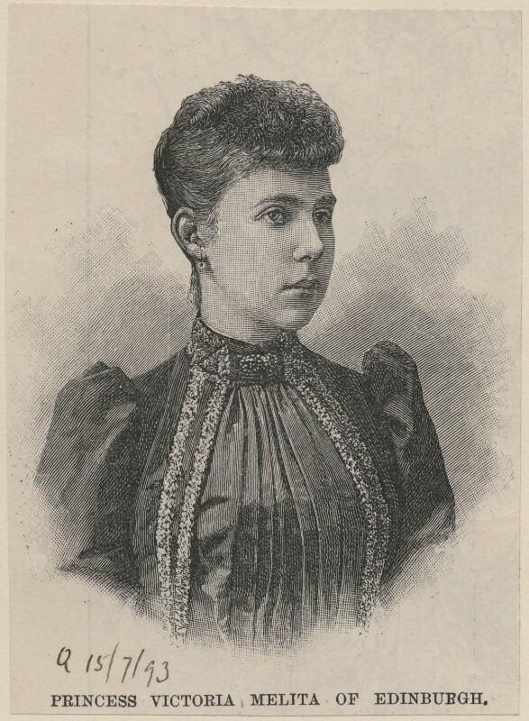 Victoria Melita, Grand Duchess of Russia, after Unknown artist, published 1893 - NPG D11228 - © National Portrait Gallery, London