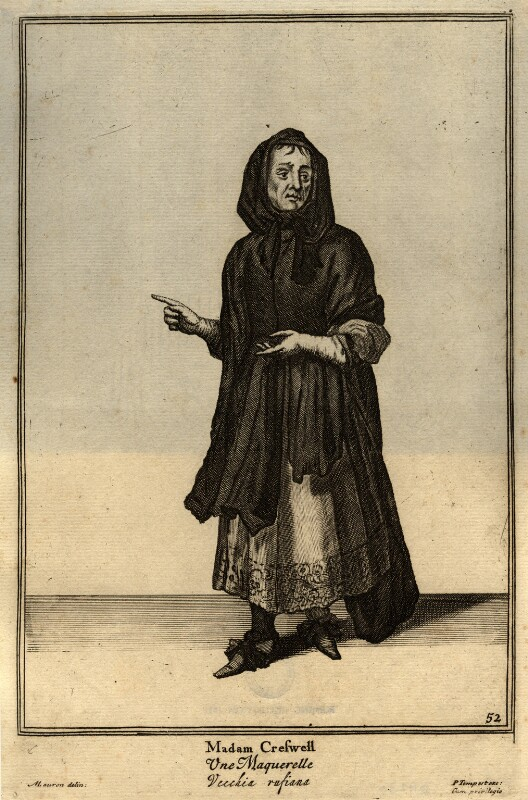 Elizabeth Cresswell, after Marcellus Laroon,  - NPG D11230 - © National Portrait Gallery, London