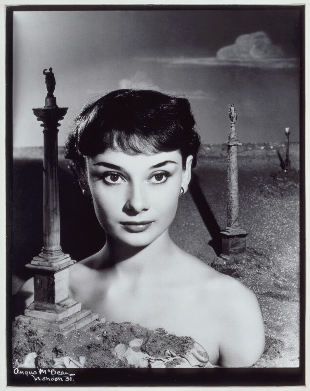 Audrey Hepburn, by Angus McBean, October 1950 - NPG x25145 - © reserved; collection National Portrait Gallery, London