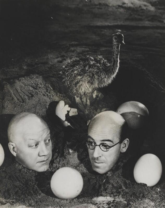 Alfred Drayton (Alfred Varick); Robertson Hare, by Angus McBean, 1938 - NPG P919 - Angus McBean Photograph. © Harvard Theatre Collection, Harvard University.