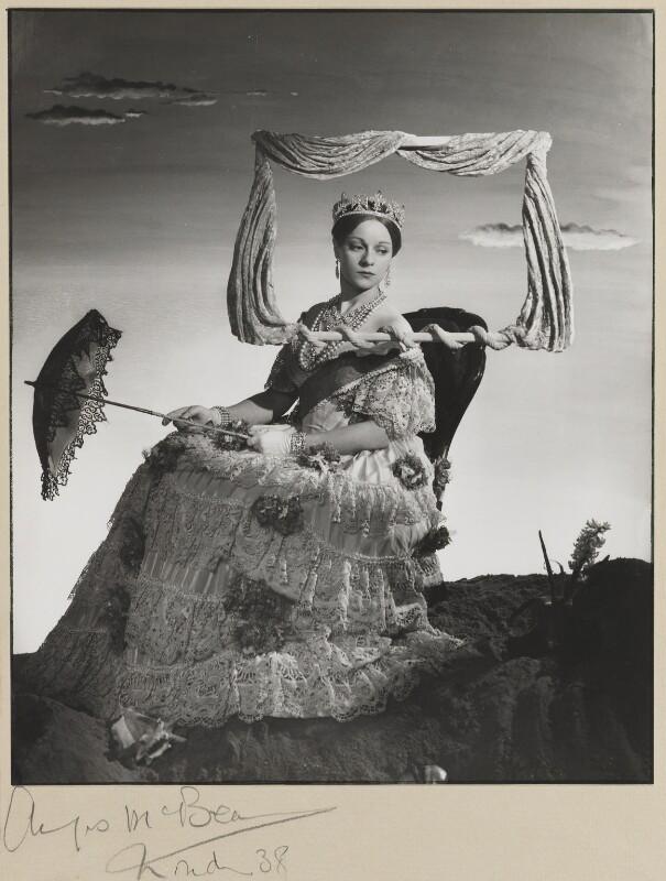Pamela Stanley (Lady Cunynghame) as Queen Victoria in 'Victoria Regina', by Angus McBean, 1938 - NPG P926 - Angus McBean Photograph. © Harvard Theatre Collection, Harvard University.