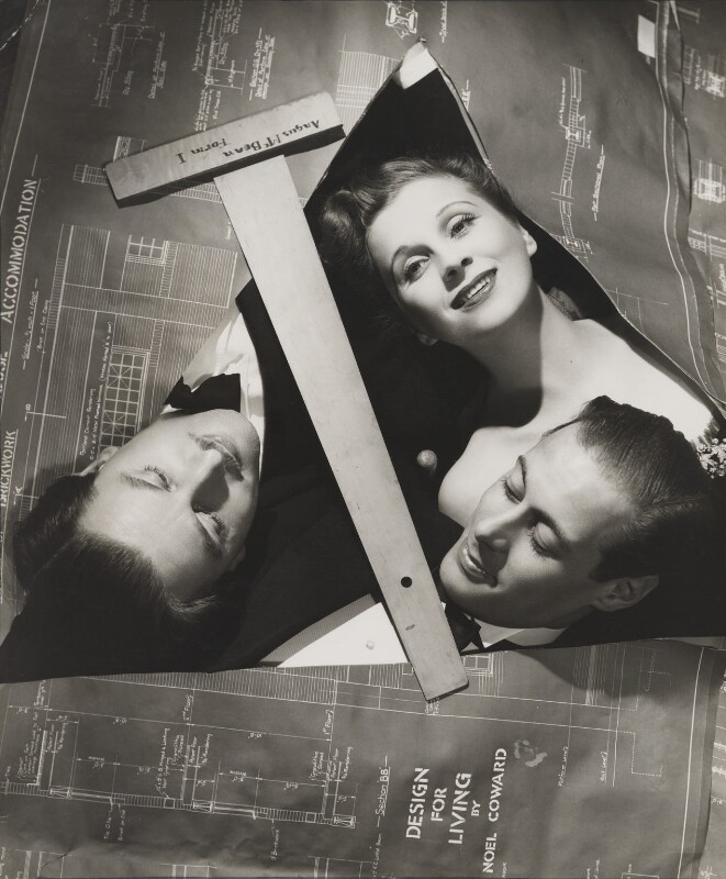 Anton Walbrook; Diana Wynyard; Rex Harrison, by Angus McBean, 1939 - NPG P929 - Angus McBean Photograph. © Harvard Theatre Collection, Harvard University.