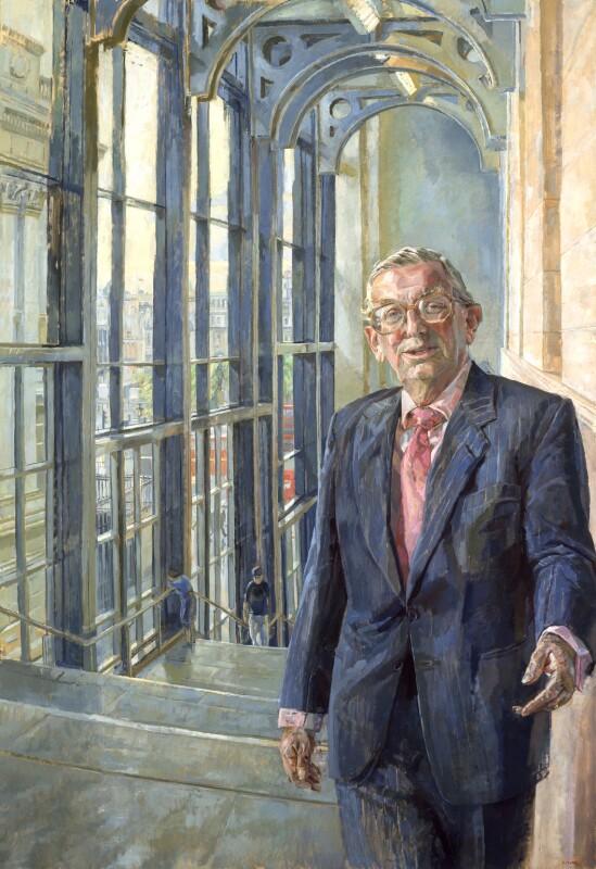 John Davan Sainsbury, Baron Sainsbury of Preston Candover, by Daphne Todd, 2001 - NPG 6590 - © National Portrait Gallery, London