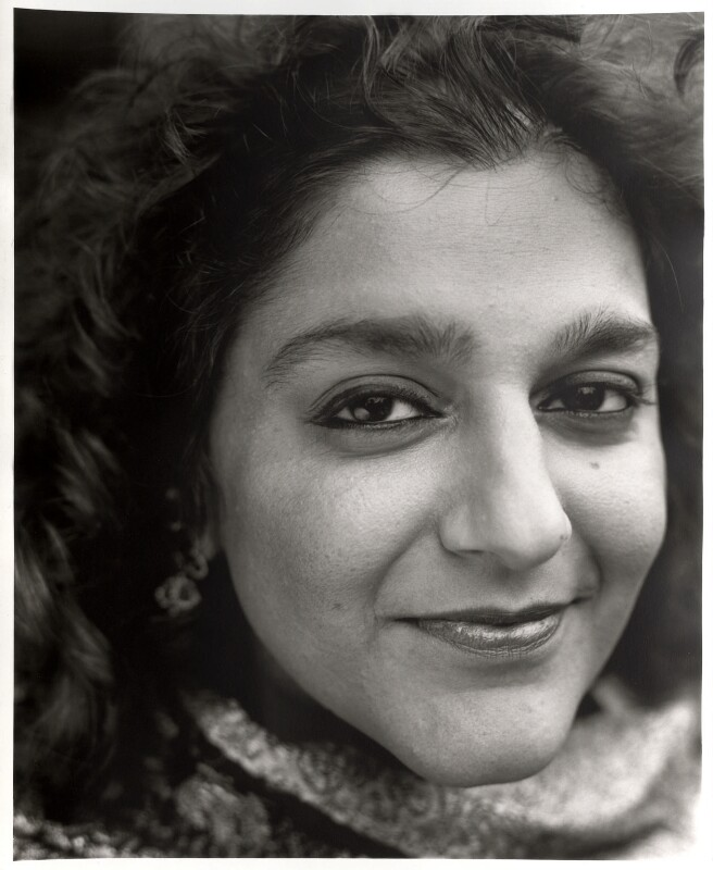 Meera Syal, by David Harrison, 26 July 1997 - NPG x87582 - © David Harrison