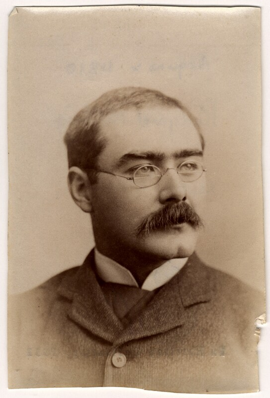 Rudyard Kipling, by Francis Henry Hart, for  Elliott & Fry, 1893 - NPG x11810 - © National Portrait Gallery, London
