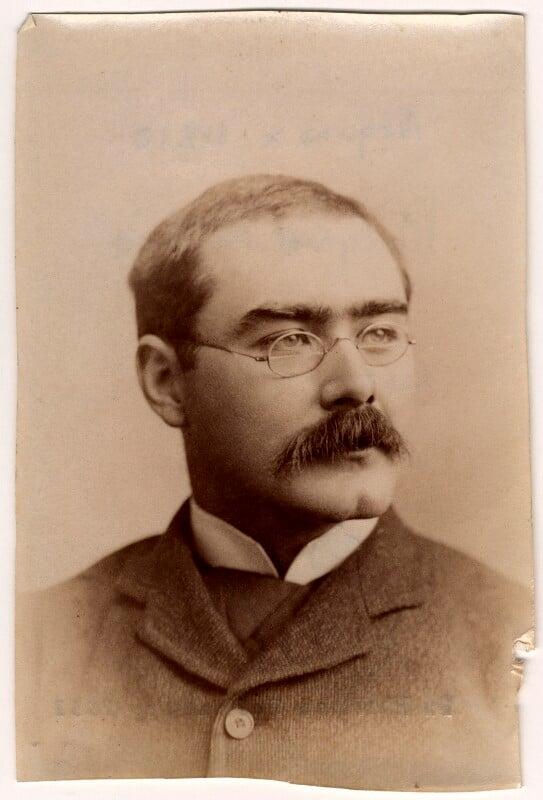 Rudyard Kipling, by Francis Henry Hart, for  Elliott & Fry, 1893 - NPG x11810 - © National Portrait Gallery, London