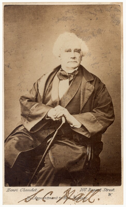 Samuel Carter Hall, by Henri Claudet, circa 1869 - NPG Ax125089 - © National Portrait Gallery, London