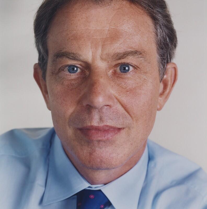Tony Blair, by Eamonn McCabe, 10 September 2001 - NPG x125119 - © Eamonn McCabe