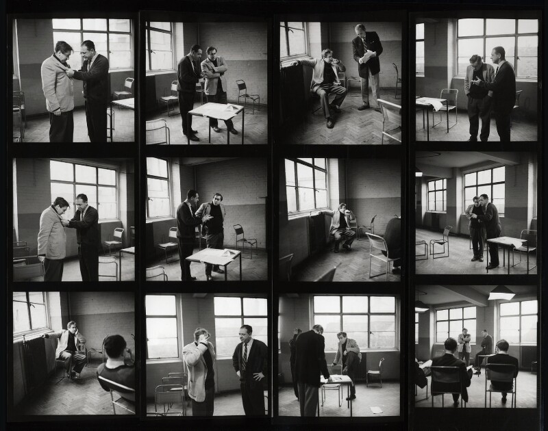 Tony Hancock; Sid James; the cast and crew of 'Hancock', by Bob Collins, 1959 - NPG x125126 - © estate of Bob Collins / National Portrait Gallery, London