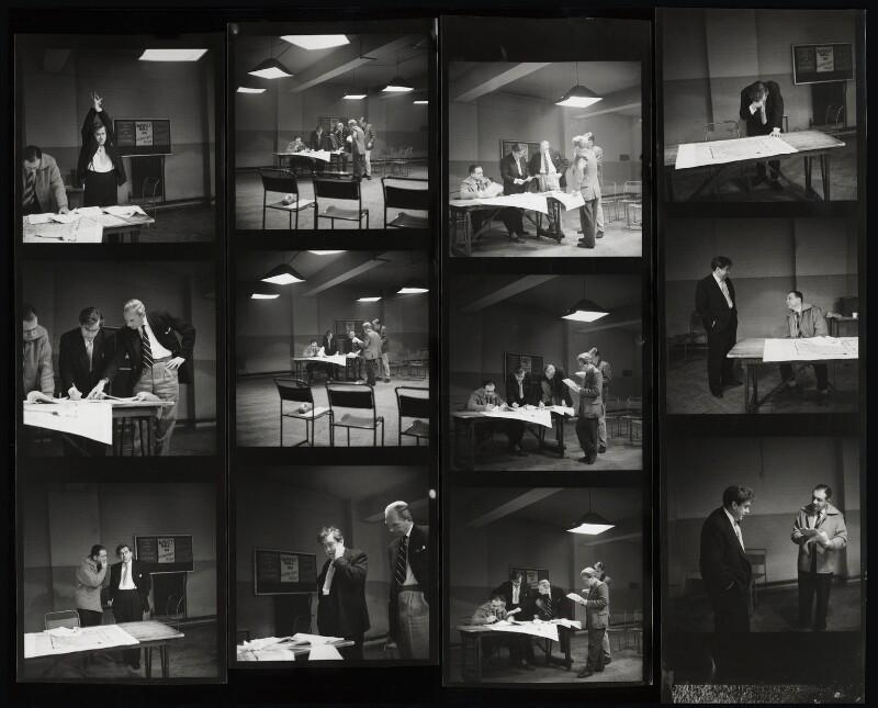 Tony Hancock; Sid James; the cast and crew of 'Hancock', by Bob Collins, 1959 - NPG x125129 - © estate of Bob Collins / National Portrait Gallery, London