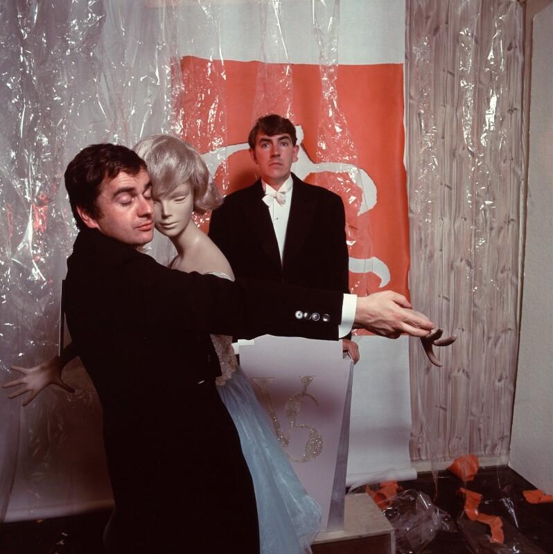 Dudley Moore; Peter Edward Cook, by Lewis Morley, 1960s - NPG x87169 - © Lewis Morley Archive