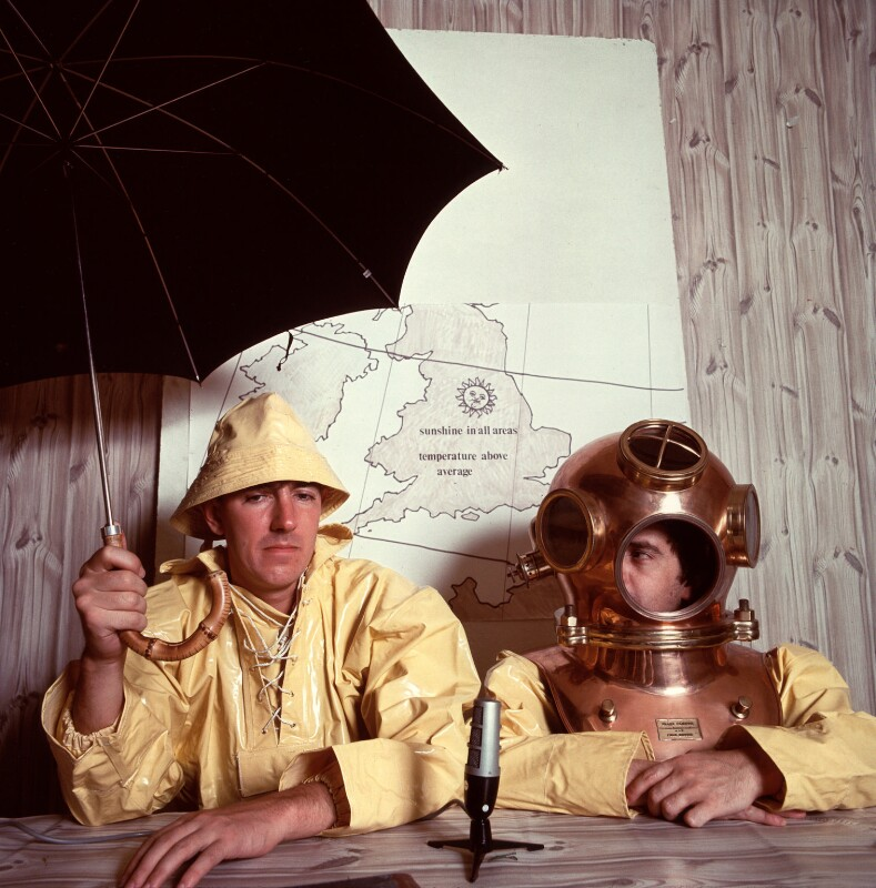 Peter Edward Cook; Dudley Moore, by Lewis Morley, 1960s - NPG x87170 - © Lewis Morley Archive