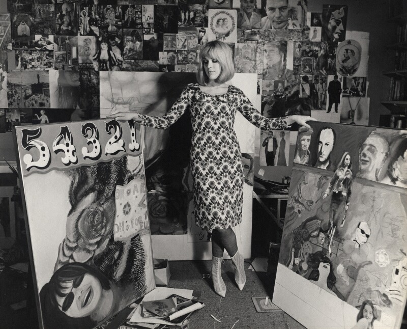 Pauline Boty, by Lewis Morley, September 1963 - NPG x38927 - © Lewis Morley Archive / National Portrait Gallery, London
