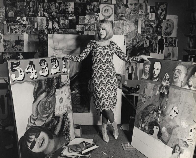 Pauline Boty, by Lewis Morley, September 1963 - NPG x38927 - © Lewis Morley Archive