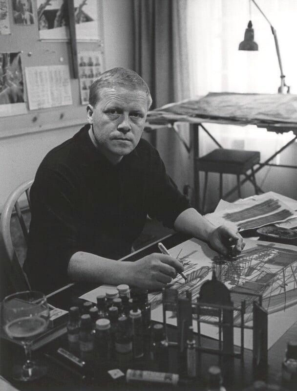 Sean Kenny, by Lewis Morley, 1963 - NPG x38913 - © Lewis Morley Archive