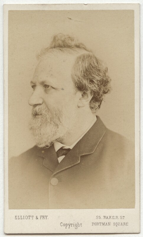 Robert Browning, by Elliott & Fry, 1860s - NPG x4823 - © National Portrait Gallery, London